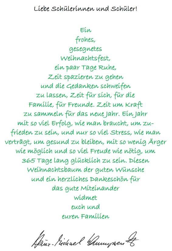 Weihnachtsgrüße An Eltern.Weihnachtsgruß Franziskusgymnasium Lingen