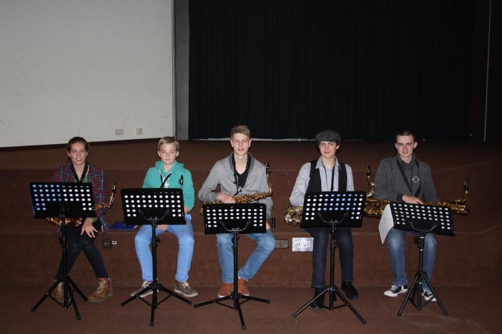 Saxophone: Nele, Hendrik, Alexander, Maximilian, Ryan