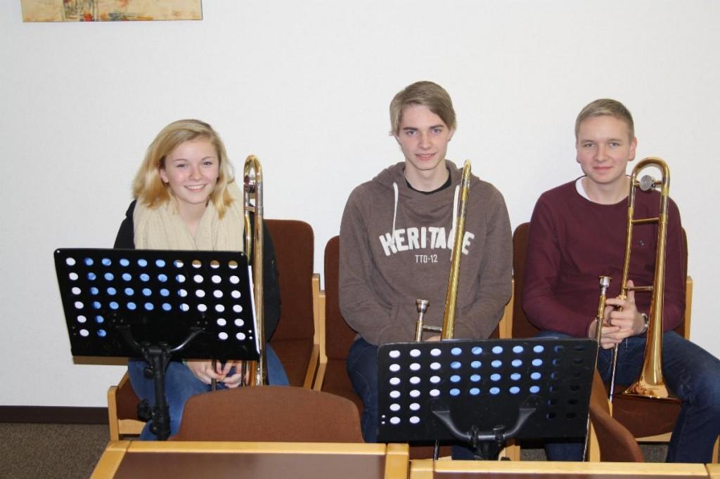 Posaunen: SeVana, Jonas, Oliver