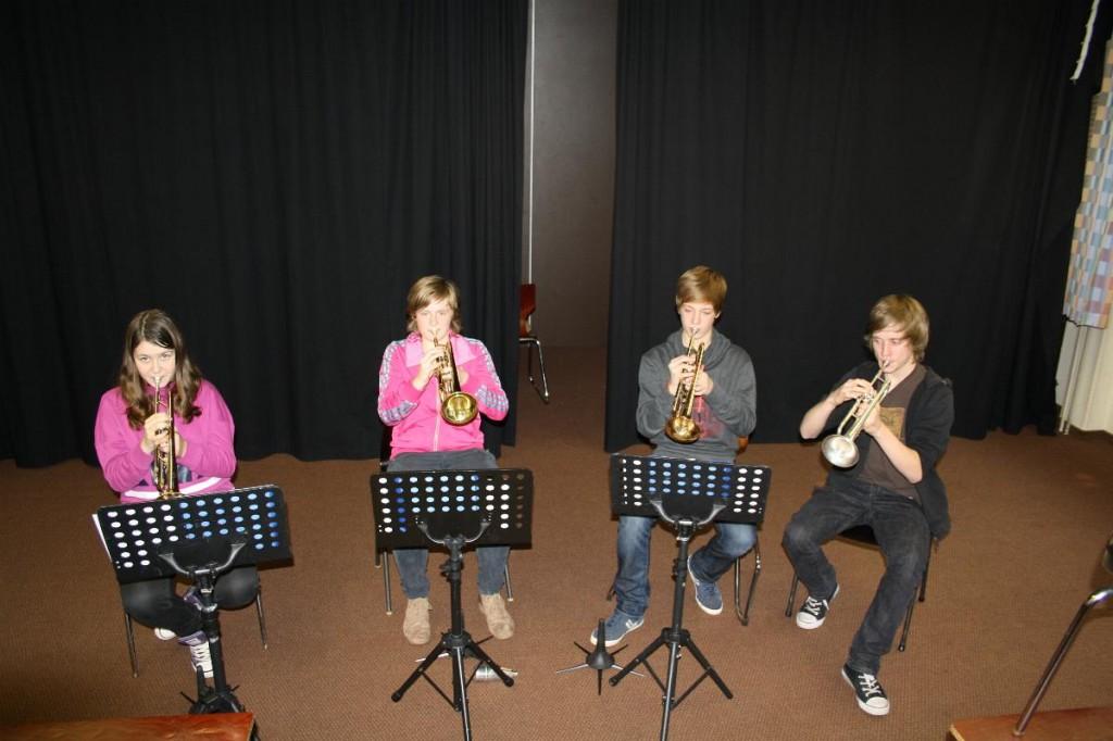 Trompeten: Maren, Sandra, Jan, Julius