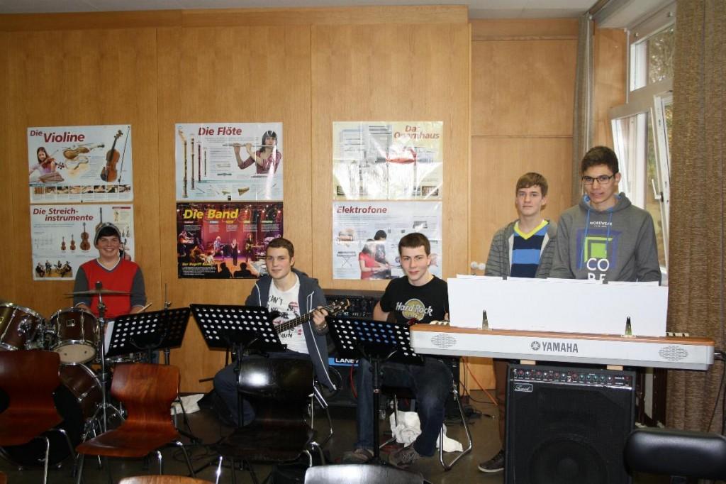 Rhythmusgruppe:Marek, Christian, Kees, Tim, Tobias