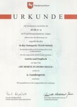 Bundeswettbewerb Fremdsprachen 2015 - Urkunde