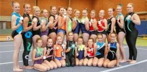 Das Sportakrobatik-Team des KTV LIngen