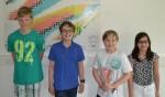 ELMO-Gewinner Luca, Matthis, Mark, Laura