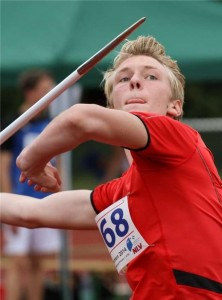 Jannes Hater - Kreisrekord im Speerwurf