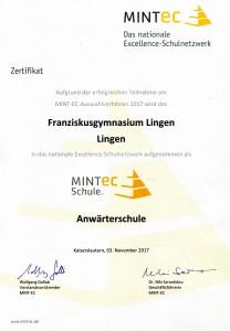 MINT-Zertifikat