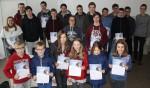 Teilnehmer und Teilnehmerinnen des Informatik-Biber-Wettbewerbes