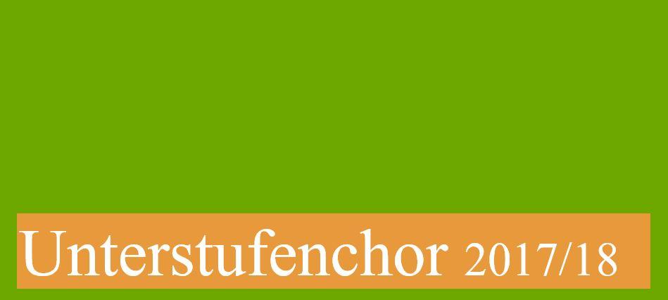 Unterstufenchor 2017-18